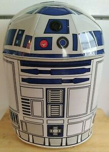 Star Wars R2-D2 Luggage Rolling Carry On w/ Lights & Sounds Disney Suitcase READ