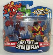 Marvel Super Hero Squad Spider-Man and Shang Chi figure 2 pack NEW Sealed