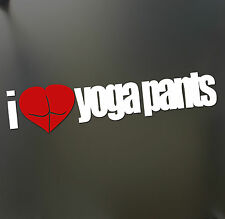 I heart yoga pants sticker RED love gym cute booty funny JDM Truck Car Bumper