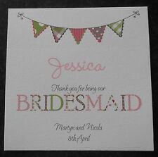 Personalised Bridesmaid Thank You Card - Flower Girl-Maid of Honour-Best Man etc