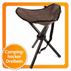 Dreibein Campinghocker Angelhocker Outdoor Camping Hocker Campingstuhl Faltstuhl