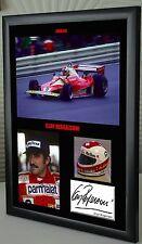 "Clay Regazzoni F1 Ferrari Framed Canvas Signed Print ""Great Gift"""