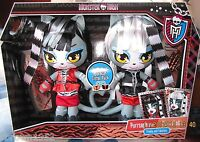 MONSTER HIGH WERECAT TWINS PLUSH SET OF 2 Meowlody & Purrsephone EXCLUSIVE