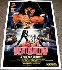DEATH BLOW 1987 ORIGINAL 27x41 MOVIE POSTER! RAPE JUSTICE EXPLOITATION CLASSIC!