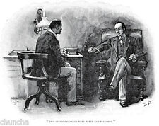 Sherlock Holmes and Dr Watson poster drawn by Sidney Paget 1893