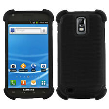 Samsung Galaxy S2 T989 T-Mobile -DUAL LAYER HARD & SOFT RUBBER CASE BLACK HYBRID