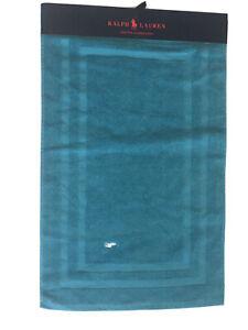 Ralph Lauren Bathroom Mat 100% Combed Cotton BNWT Teal Blue