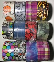 You Pick Rare & Retired Printed & Pattern Duck Brand Duct Tape Rolls - DAMAGED