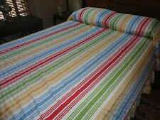 "Seersucker Bedspread Cotton Lightweight Stripe 86""W x 110""L"