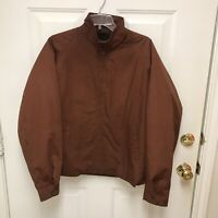 Vintage Sears The Mens Store Outwear Jacket Size 42R Brown Fleece Lined