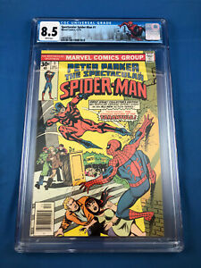 Peter Parker Spectacular Spider-Man # 1 ~ CGC 8.5 ~ 1976 Tarantula ~ White Pages