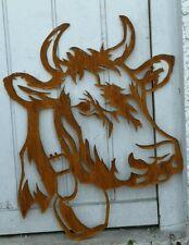 Metall schwarz lackiert Edelrost Wanddeko Kuh Kopf  Bulle Ochse tolle deko!