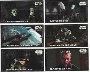Star Wars Series 1 Widevision Series 2 HE1 - HE6 Embossed Set *** HOBBY ONLY ***
