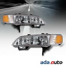 1994 1995 1996 1997 Honda Accord Left Right Side Headlights Lamps Pair