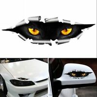 Cool 3D Car Styling Cat Eyes Peeking Car Sticker Waterproof Auto Accessories 2PC