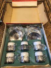 Cristofoli - Pozzani - Prata 90 - Set of Demi Tasse / Espresso Cups Saucers Box