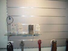 Lamellenwand Lamellenwände MDF Wand Paneele weiß   mit 7  Aluschienen