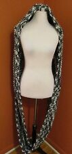 Lululemon Hickey Hider Infinity Scarf Black White Blurred Gray Wool One Size