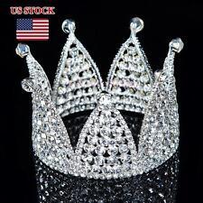 Allover Crystal Rhinestone Pageant Princess Headpiece Wedding Bridal Crown Tiara