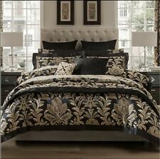 LUXURIOUS DORMA BLENHEIM DOUBLE DUVET QUILT COVER BNIP BLACK GOLD