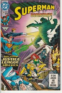 DC 1992 SUPERMAN #74 DOOMSDAY 2nd Print Yellow Variant Direct DOOMSDAY Death