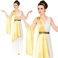 Greek Goddess Womens Ladies Fancy Dress Adult Costume Roman Ancient UK 6-24