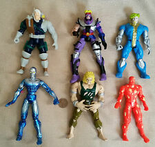 "1990's LOT of 6 Loose 5.5"" Action Figures Marvel Legends ToyBiz  HUMAN TORCH"