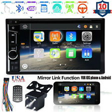 For Chrysler Jeep Dodge Car Dvd Radio Bluetooth Stereo Mirror for Gps + Camera (Fits: Chrysler)