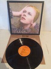 David Bowie Hunky Dory LP Vinyl 1st USA Textured Orange RCA LSP-4623 Inner EX/EX