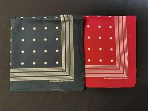 Set of Two Cotton Handkerchiefs by Baumwolle with Polka Dot Pattern