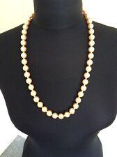 Vintage Peach   Pearl Look Beaded Necklace