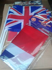 """union jack flags, mixed bundle, hand flags, 36""""x24"""" flag and paper chain kit."""