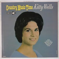 KITTY WELLS: Country Music Time USA DECCA '64 Mono Orig Vinyl LP