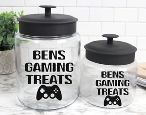 Personalised Gamer Gaming Treats Sweets Toffee/Sweetie Sticker Decal Label Jar