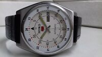 VINTAGE SEIKO 5 AUTOMATIC DAY&DATE WHITE COLOR DIAL NUMERIC FIGURE RAILWAY TIME