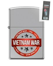 Zippo 250 Vietnam War Seal 1956-1975 Lighter + FLINT PACK