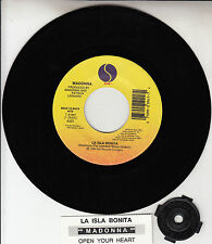 "MADONNA La Isla Bonita & Open Your Heart 7"" 45 record NEW + juke box title strip"
