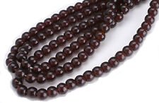 100 Garnet Czech Glass Round Beads 4MM