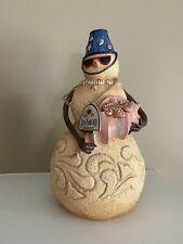 Jim Shore Beach Snowman Holding Seashell Figurine, 9-1/4 Inches New In Box