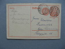 GERMANY INFLATION, revalued prestamped PC (card) 03-06-1922, total 1,25