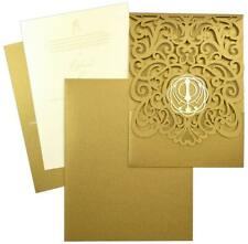 Laser Cut Wedding Invitation, Ivory Gold Laser cut Invitations Beautiful Wedding