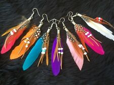 WOMEN'S TRENDY FEATHER BOHEMIAN DANGLE EARRINGS