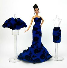 Eaki Blue Mix & Match Evening Dress Outfit Gown Silkstone Barbie Fashion Royalty