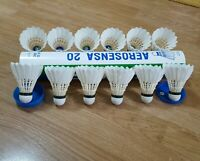 USED Yonex Aerosensa AS 20 Feather Shuttlecocks Excellent Condition 1 Dozen