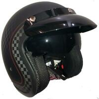 VIPER RS V06 CHEQUER 500 OPEN FACE RETRO CUSTOM MOTORCYCLE HELMET CHECK IT OUT