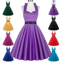Retro Vintage Style Housewife 1950s 50s Swing PARTY PROM Cocktail Evening Dress