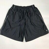 Fila Sport Active Shorts Mens 2XL XXL Black Loose Fit Pockets Workout Running