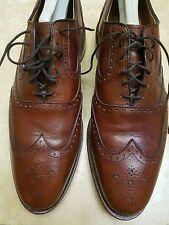 Allen Edmonds McClain Chili Grain Kalb 10B Wingtip Oxford-Schuhe 3848 10 B 44 EU