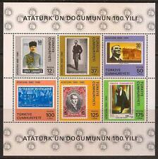 TURKEY 1981 100TH BIRTH ANNIV OF MUSTAFA KEMAL ATATURK SC # 2194 MNH