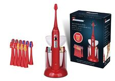 Pursonic S430 SmartSeries Sonic Rechargeable Toothbrush w/ 12 Brush Heads, Red